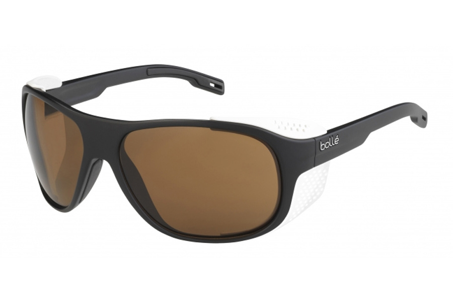 Bolle Graphite Sunglasses in 12564 Matte Black X White W/Phantom Black Gun