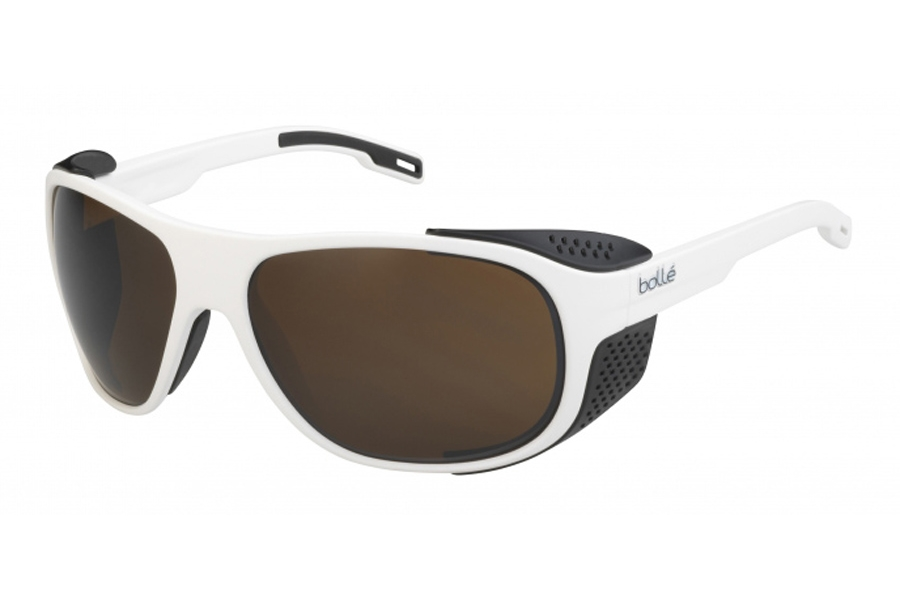 Bolle Graphite Sunglasses in 12565 Matte White X Black W/100 Gun