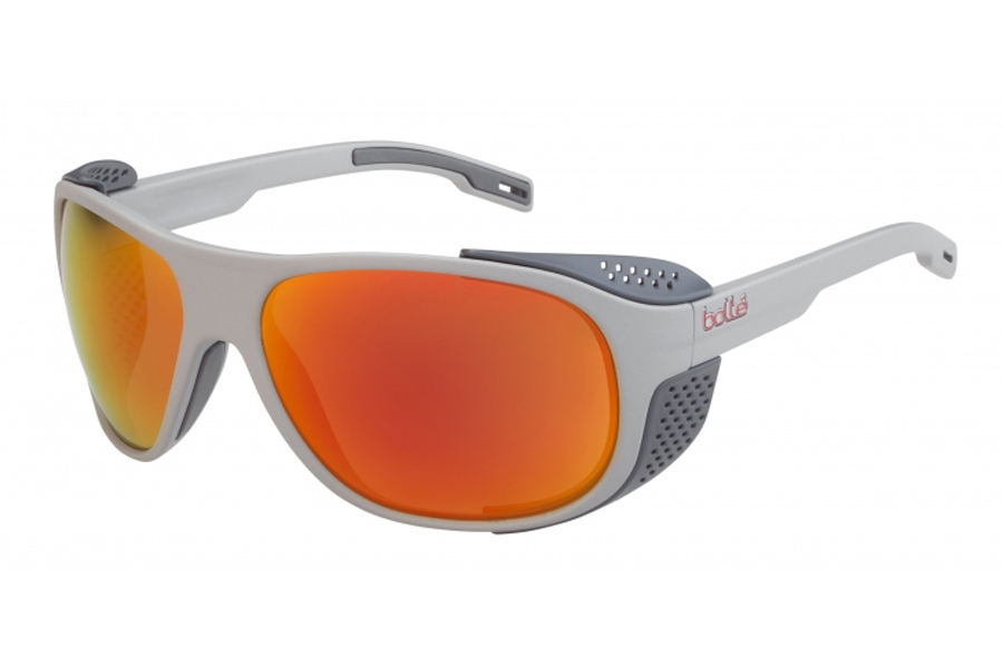 Bolle Graphite Sunglasses in 12566 Matte Gray Polarized W/Brown Fire