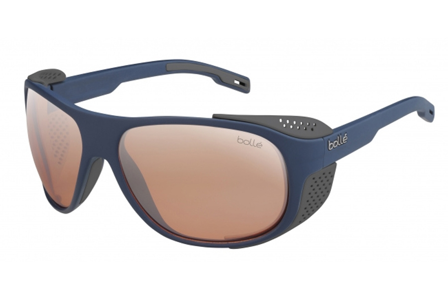 Bolle Graphite Sunglasses in 12567 Matte Navy Phantom W/Pink Gun