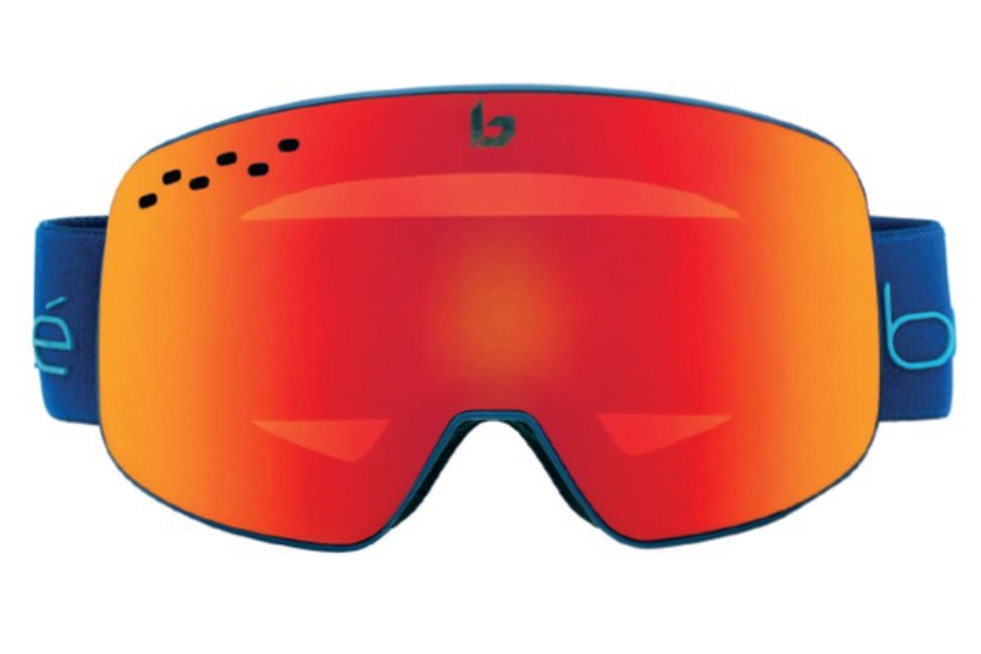 Bolle Nevada Goggles in 21836 Matte Blue   Red Diagonal Sunrise ... a65202b44