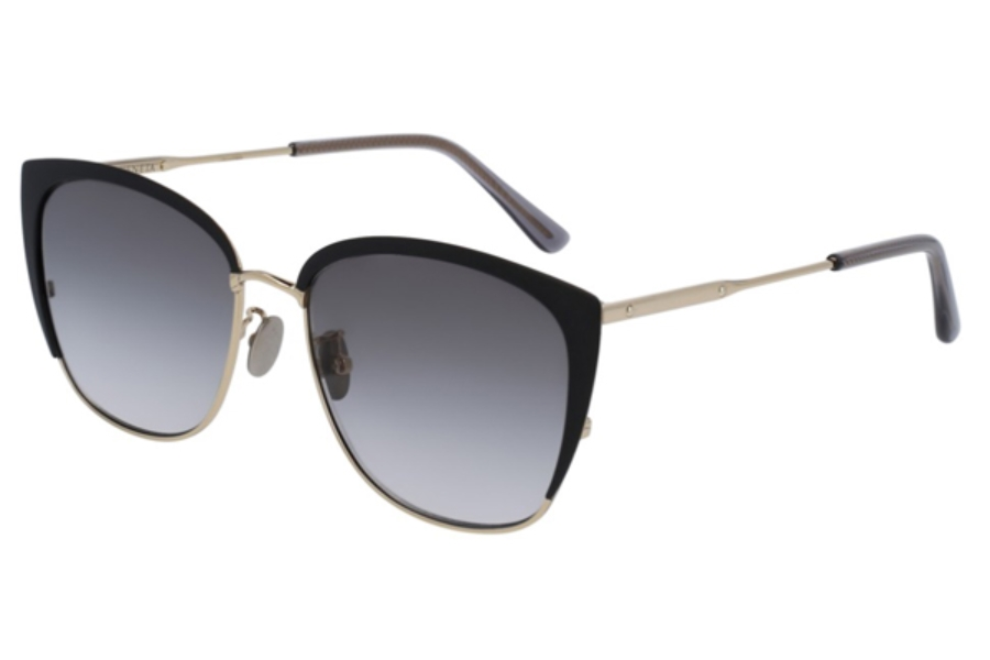 Bottega Veneta BV0089SK Sunglasses in 004 Black / Grey
