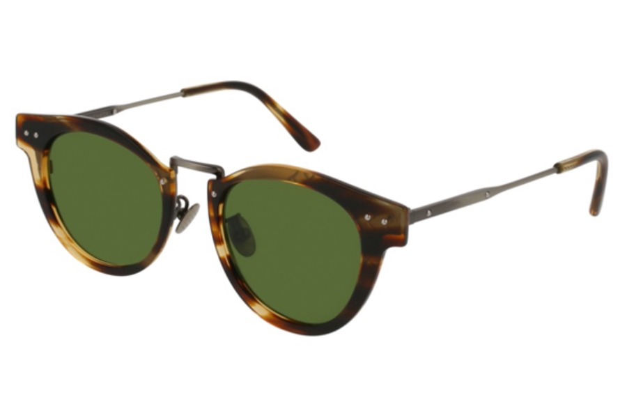 Bottega Veneta BV0117S Sunglasses in 002 Silver / Green