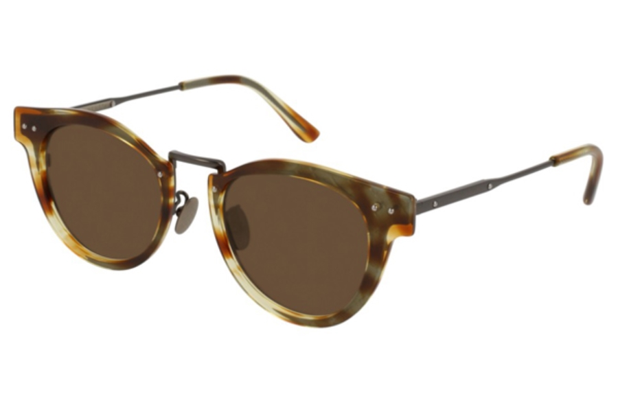 Bottega Veneta BV0117S Sunglasses in 003 Ruthenium / Brown