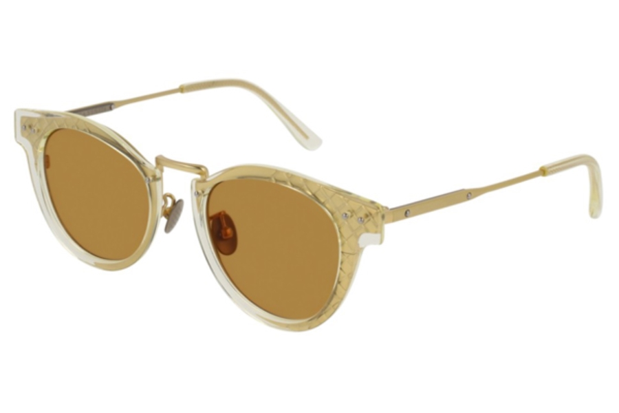Bottega Veneta BV0117S Sunglasses in 005 Gold / Brown