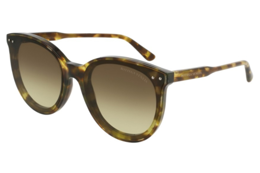 Bottega Veneta BV0165S Sunglasses in 004 Havana / Brown