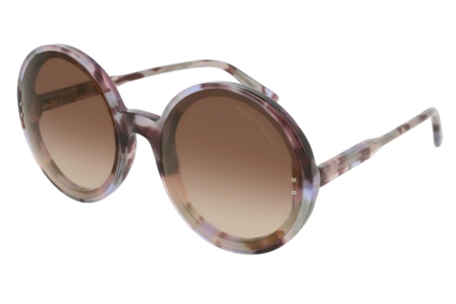 Bottega Veneta BV0166S Sunglasses in 002 Havana / Violet