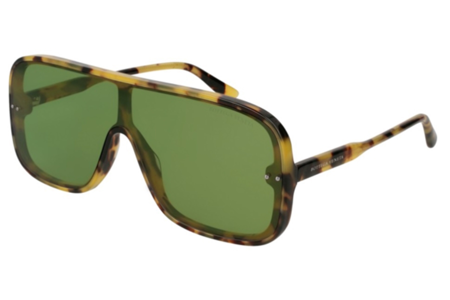 Bottega Veneta BV0167S Sunglasses in 004 Havana / Green