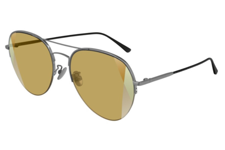 Bottega Veneta BV0247S Sunglasses in 006 Ruthenium / Yellow