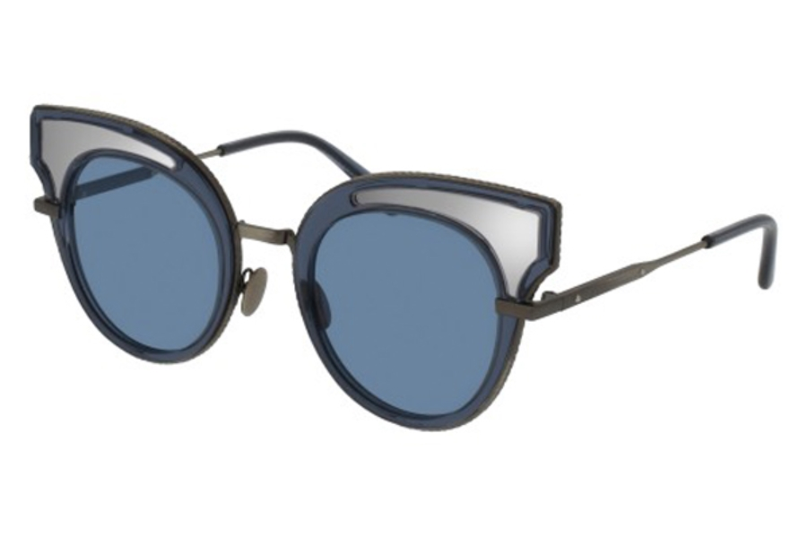 Bottega Veneta BV0094S Sunglasses in 005 Blue / Blue