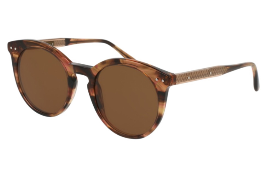 Bottega Veneta BV0096S Sunglasses in 002 Havana / Brown