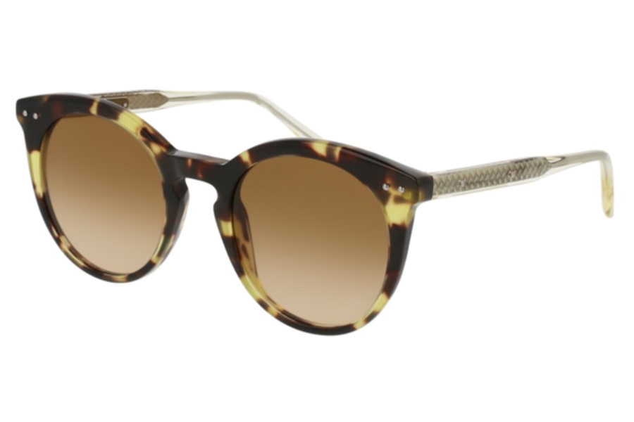 Bottega Veneta BV0096S Sunglasses in 005 Havana / Brown