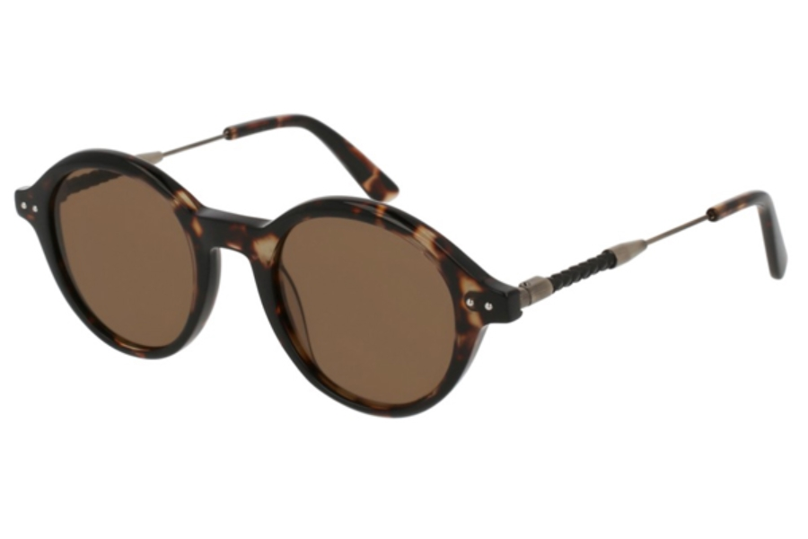 Bottega Veneta BV0107S Sunglasses in 004 Havana / Brown