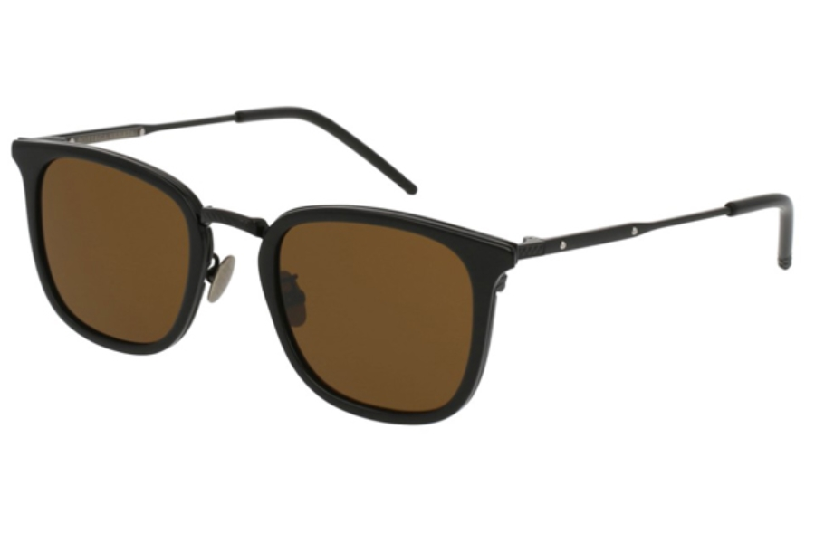 Bottega Veneta BV0111S Sunglasses in 001 Black / Brown