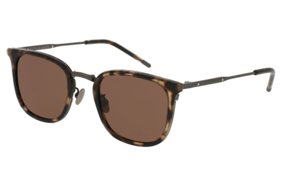 Bottega Veneta BV0111S Sunglasses in 004 Havana / Brown