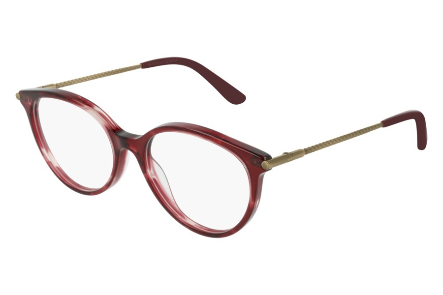 Bottega Veneta BV0199O Eyeglasses in 003 Pink Gold