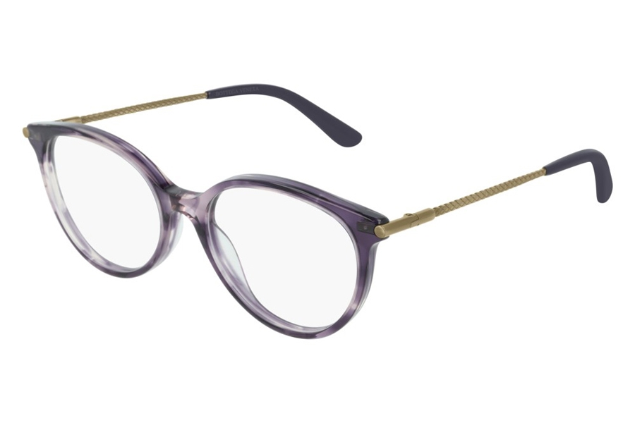 Bottega Veneta BV0199O Eyeglasses in 004 Violet Gold