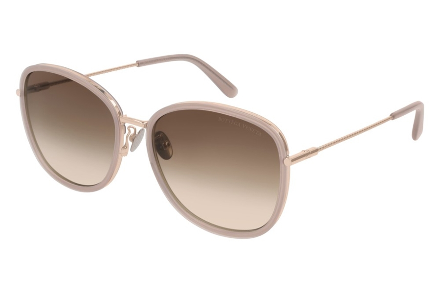 Bottega Veneta BV0220SK Sunglasses in 003 Nude/Brown