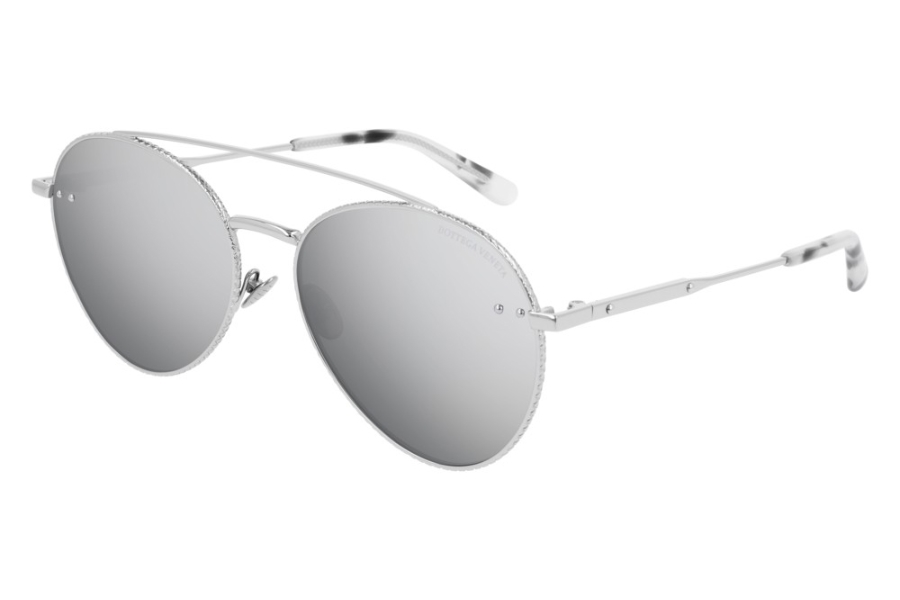 Bottega Veneta BV0258S Sunglasses in 002 Silver/Silver Flash
