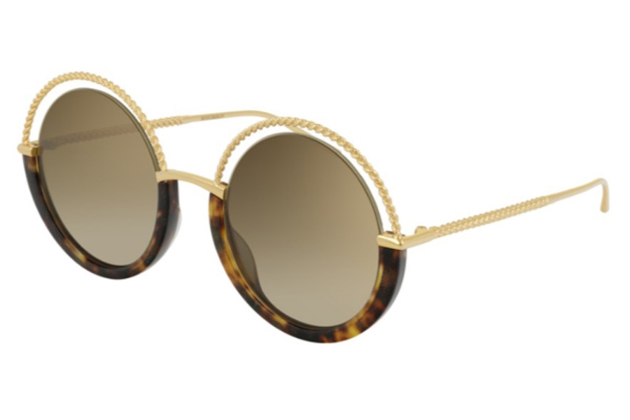 Boucheron Paris BC0084S Sunglasses in 002 Gold / Brown