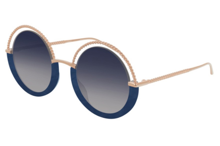 Boucheron Paris BC0084S Sunglasses in 003 Gold / Blue