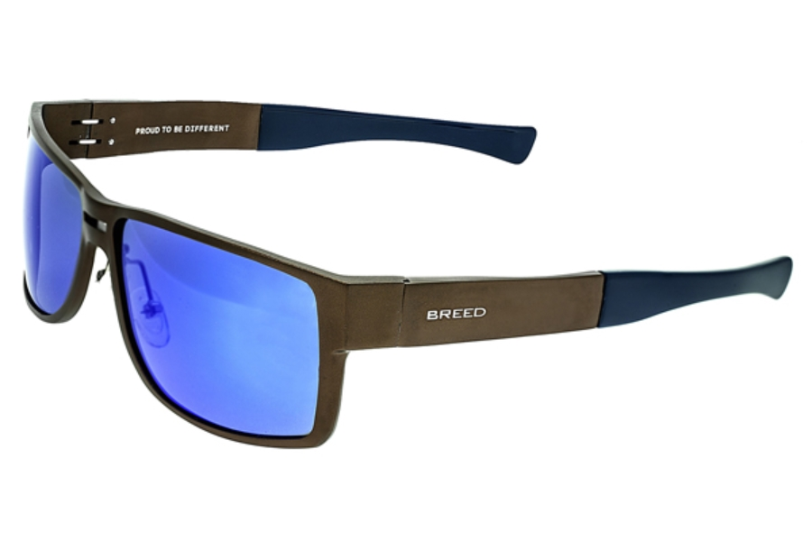 Breed Stratus Sunglasses in 010BN Brown/Blue