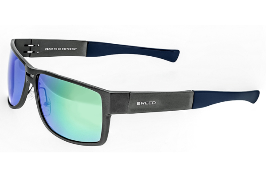 Breed Stratus Sunglasses in 010SR Gunmetal/Green