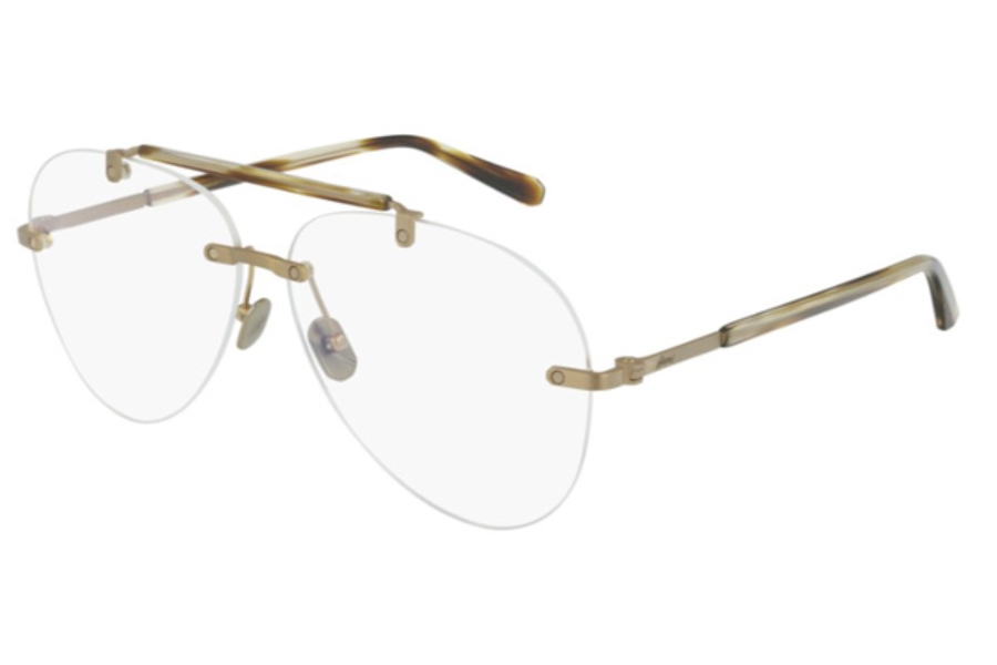 Brioni BR0061O Eyeglasses in 002 Transparent / Havana