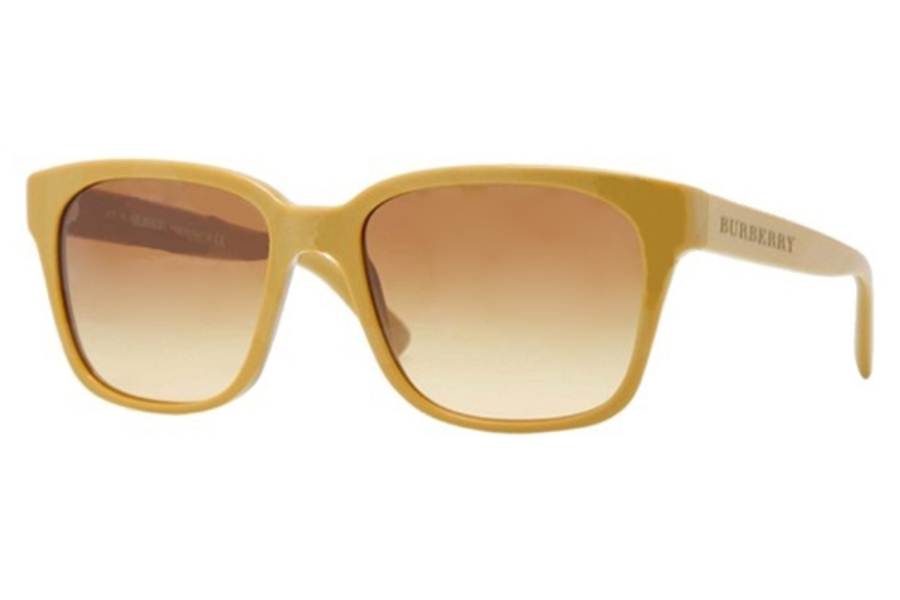 1d2d6ead0b36 ... Burberry BE4140 Sunglasses in 33722L Mustard Brown Gradient  Burberry  BE4140 Sunglasses in 33738E Green ...