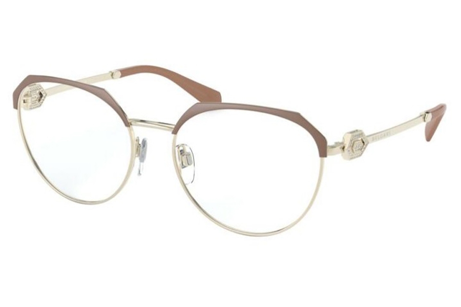 Bvlgari BV 2214B Eyeglasses in 2036 Matte Turtledove/Pale Gold