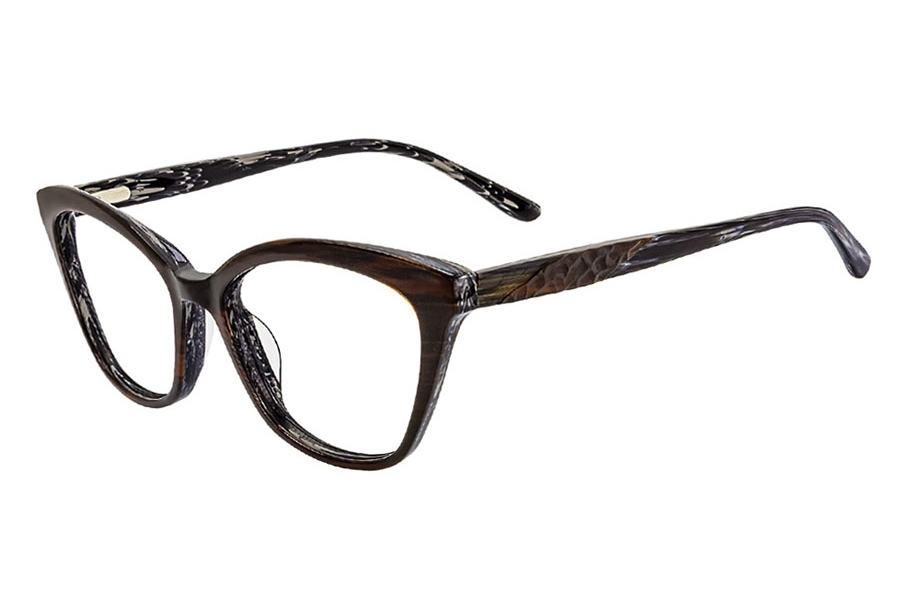 Cafe Lunettes Cafe 3285 Eyeglasses in C-2 Brown Stripe