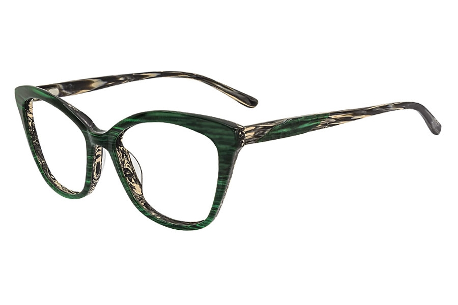 Cafe Lunettes Cafe 3285 Eyeglasses in C-3 Emerald Stripe