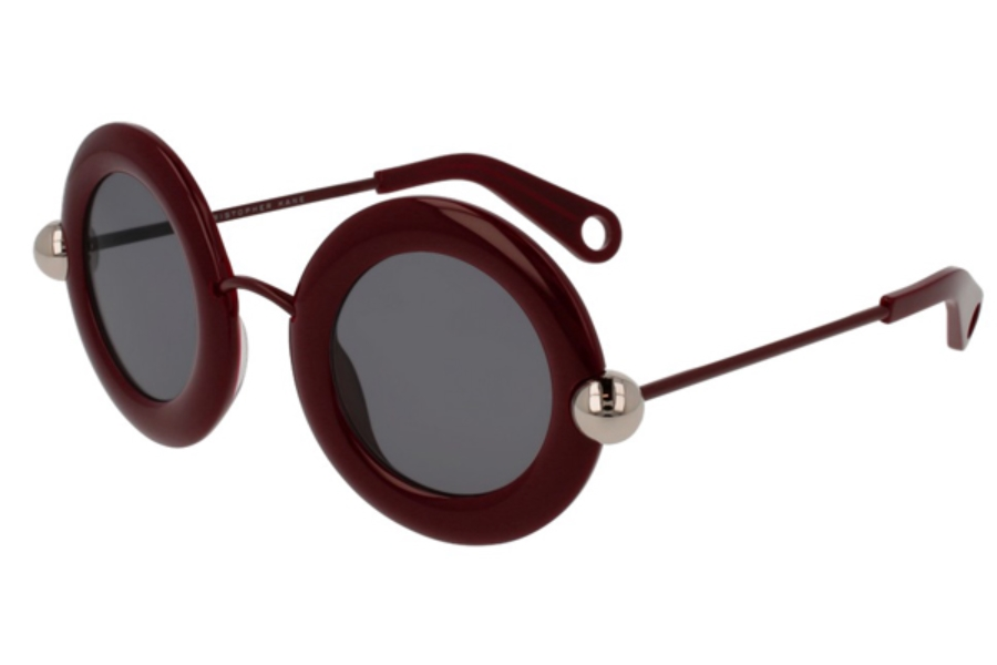 Christopher Kane CK0005S Sunglasses in 004 Red/Grey Lens