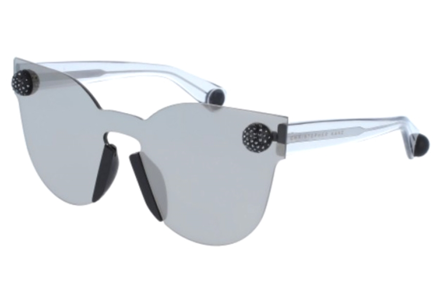 Christopher Kane CK0007S Sunglasses in 001 Silver Grey/Silver Mirror Lens