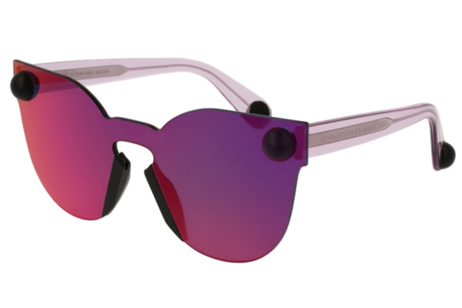 Christopher Kane CK0007S Sunglasses in 005 Red Pink/Red Mirror Lens