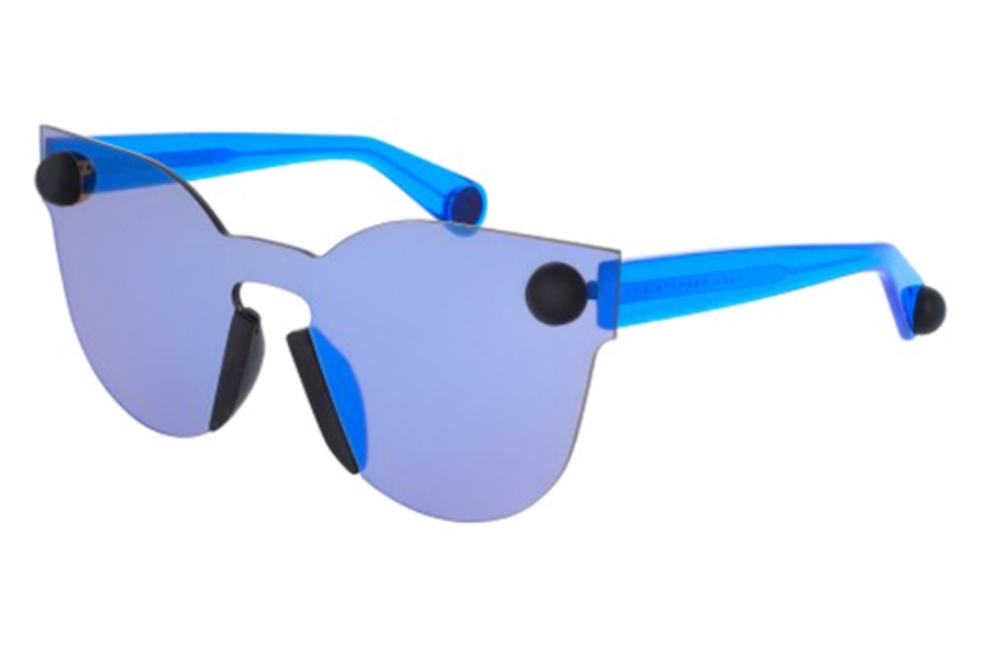 Christopher Kane CK0007S Sunglasses in 006 Blue/Blue Mirror Lens