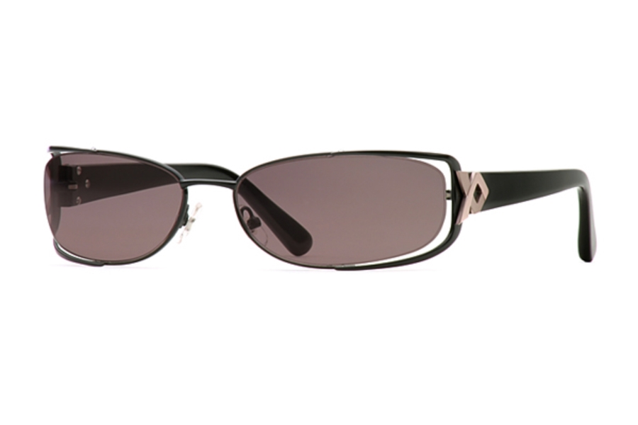 Carmen Marc Valvo Lena Sunglasses in Caviar