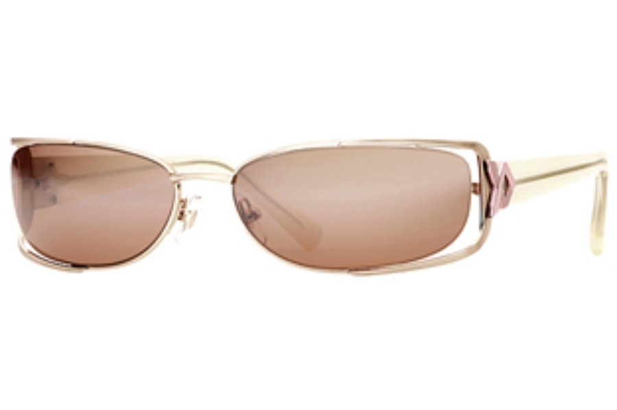 Carmen Marc Valvo Lena Sunglasses in Gold