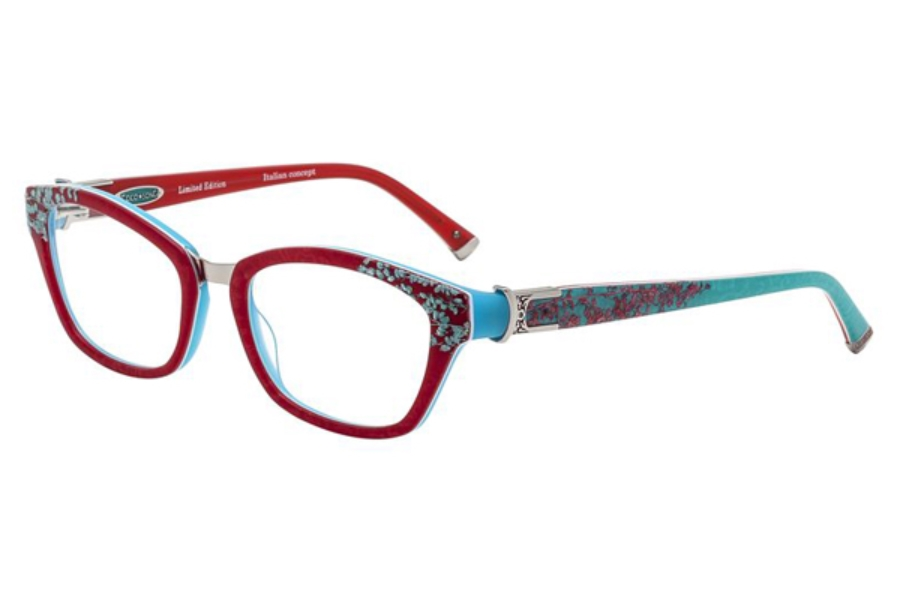 Coco Song Cold Tremor Eyeglasses in C1 Red/Turquoise
