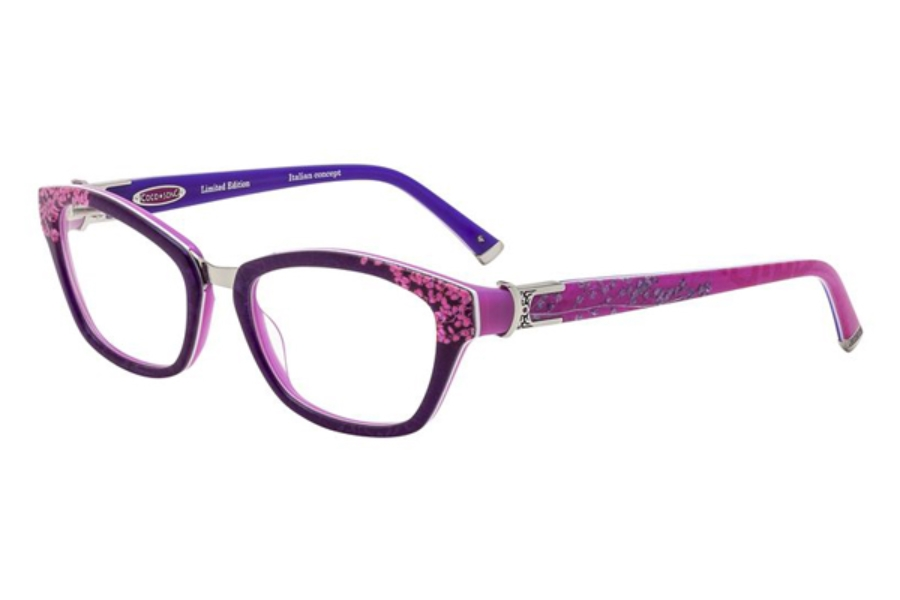 Coco Song Cold Tremor Eyeglasses in C2 Violet/Fuchsia