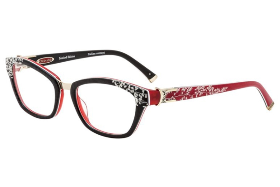 Coco Song Cold Tremor Eyeglasses in C4 Black/Red