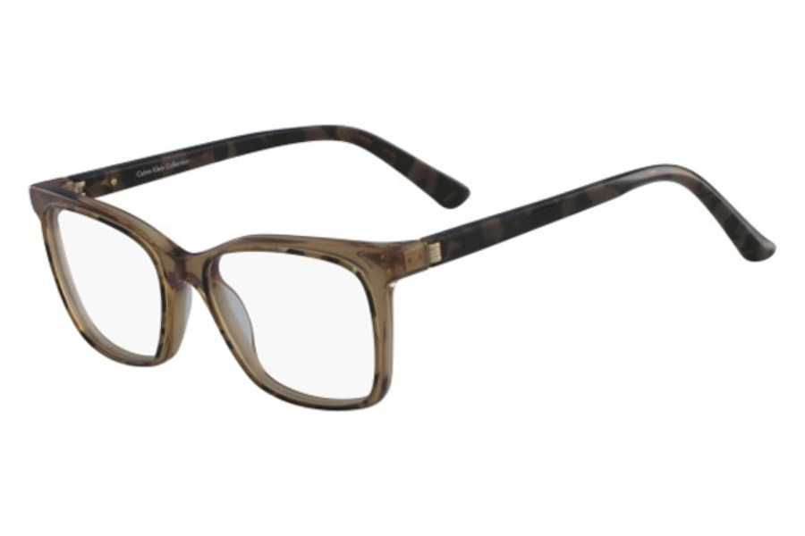 Calvin Klein CK8580 Eyeglasses in 262 Brown Tortoise/Crystal Brown
