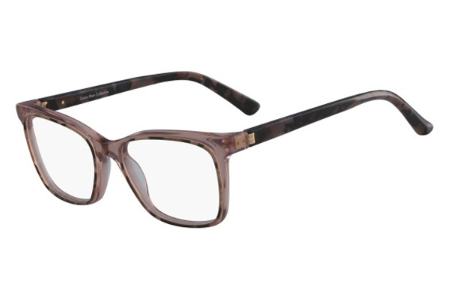 Calvin Klein CK8580 Eyeglasses in 643 Rose Tortoise/Crystal Rose