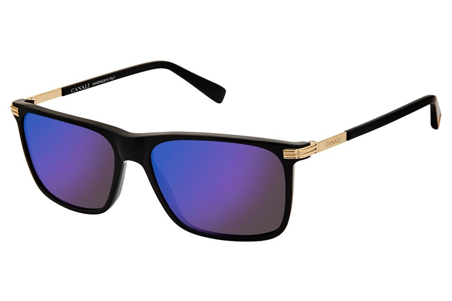 Canali 202 Sunglasses in C01 Black