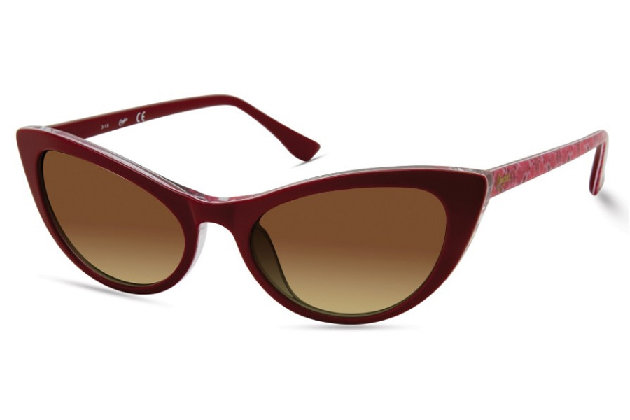 Candies CA1032 Sunglasses in 66F - Shiny Red / Gradient Brown
