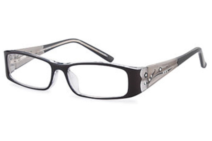 Capri Optics Traditional Plastics Vicky Eyeglasses in Black
