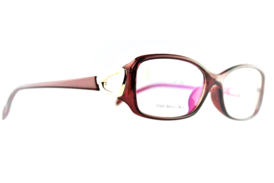 Carlo Bellini CB 7571 Eyeglasses in Clear Red (C2)