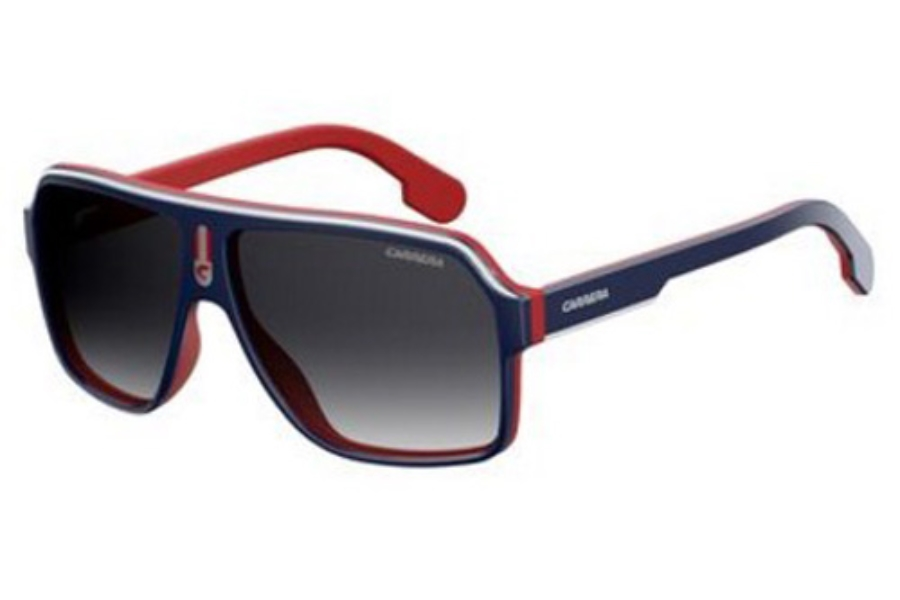 cb1035c4c279 ... Carrera CARRERA 1001/S Sunglasses in 08RU Blue Red (9O dark gray  gradient lens ...