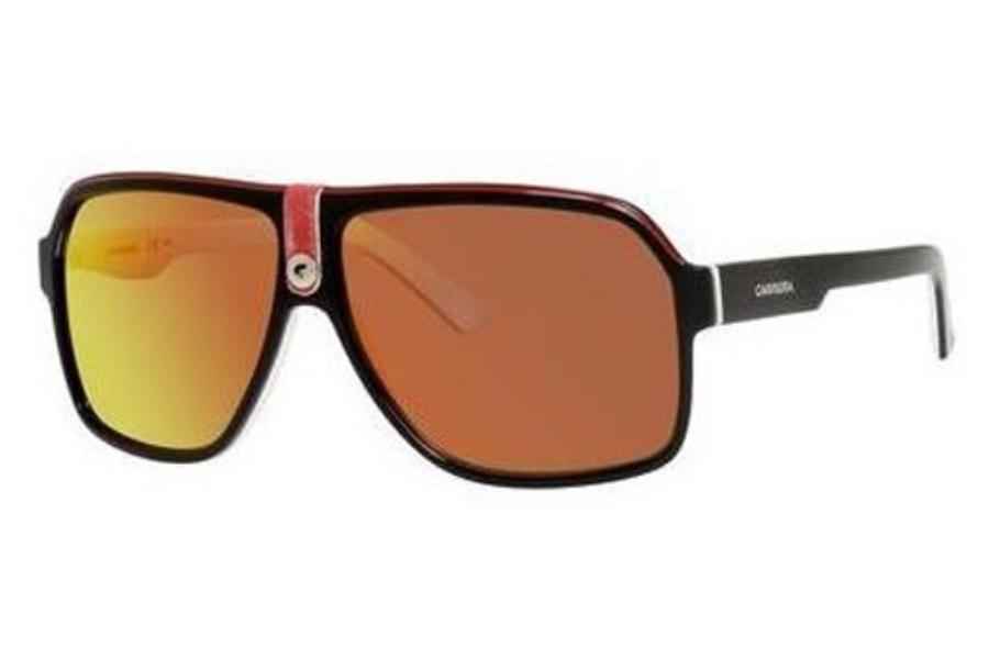 b3663e5a84e7 Carrera CARRERA 33/S Sunglasses in 08V4 Black Crystal White (UZ red mirror  lens ...