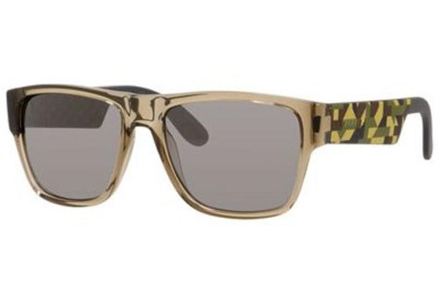 afb3eaaecd8e0 ... Carrera CARRERA 5002 S Sunglasses in 06YN Gray Camel Sand (T4 black  mirror lens ...